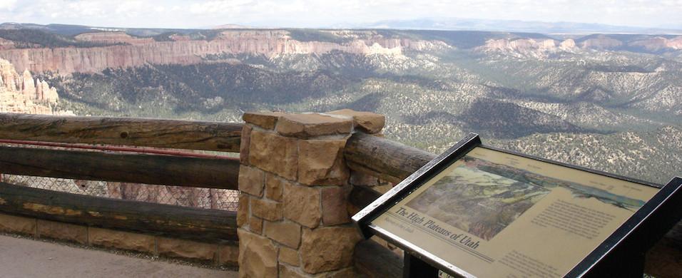 Bryce Canyon National Park -Utah Plains Wayside Exhibit