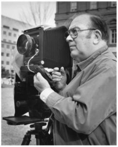 Jack Boucher with large camera