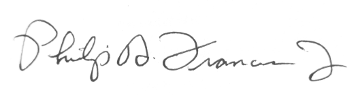 Phil Francis Signature