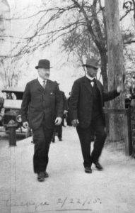 Julius Rosenwald, left, and Booker T. Washington at the Tuskegee Institute in Alabama in 1915. Credit -University of Chicago Library-Ciesla Foundation