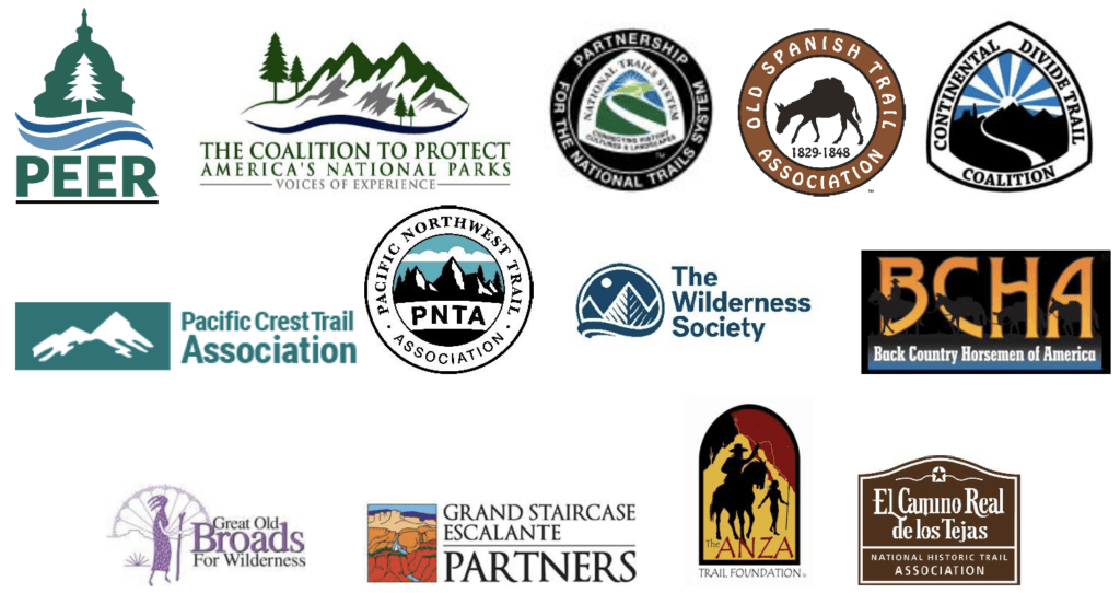 Coalition signs on to Protect National Trails Logo